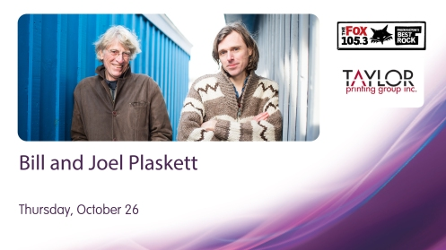 Bill and Joel Plaskett team up for a must-see performance
