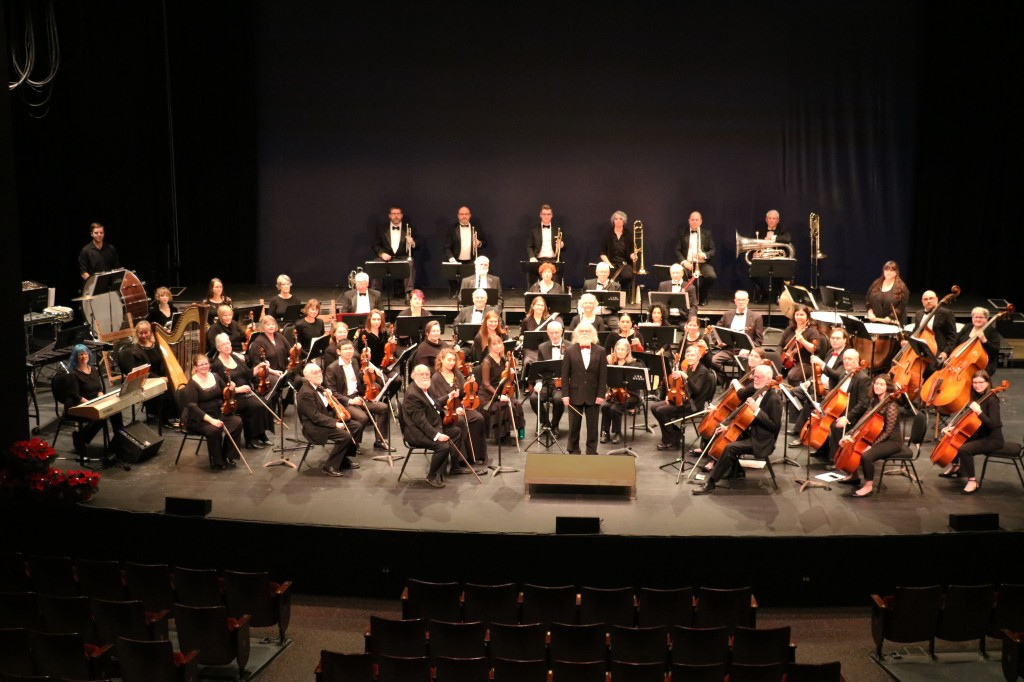 Fredericton Symphony Orchestra on stage at the Fredericton Playhouse